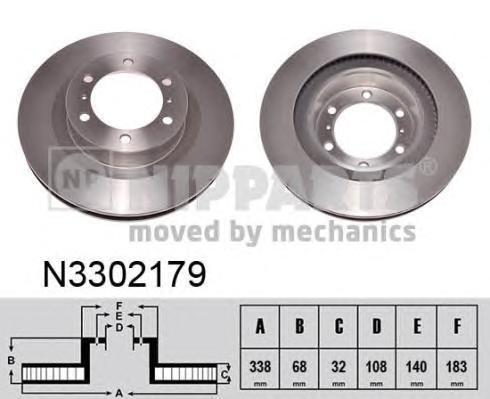 Диск тормозной передний Nipparts N3302179 комплект 2 штN3302179
