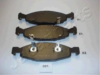 Колодки тормозные дисковые Japanparts PA097AFPA097AF
