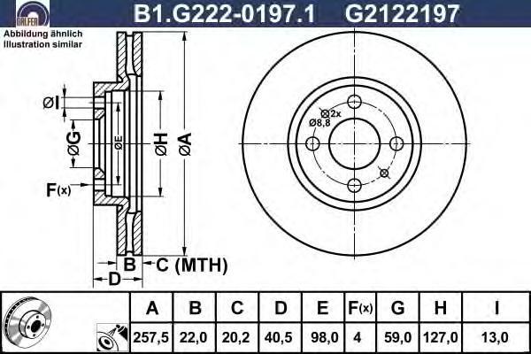Диск тормозной Galfer B1G22201971 комплект 2 штB1G22201971