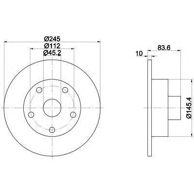Диск тормозной задний Textar 9207210392072103