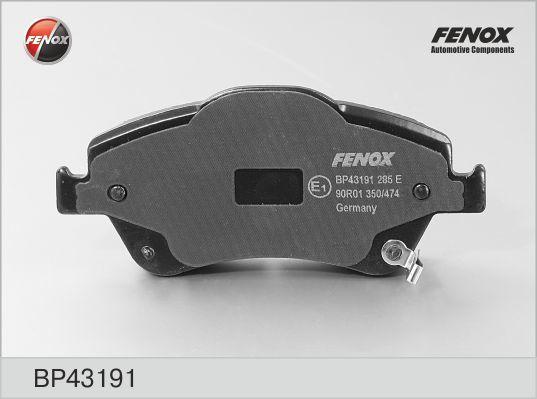 Колодки тормозные дисковые Fenox BP43191BP43191