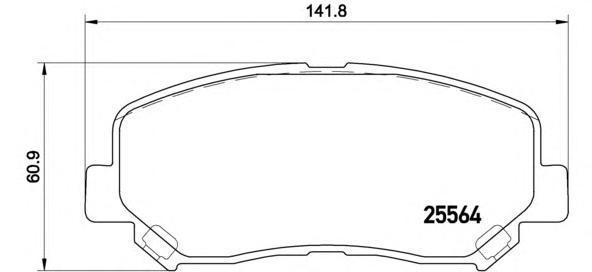 Колодки тормозные Brembo P49045P49045