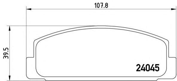 Колодки тормозные задние Brembo P49036P49036