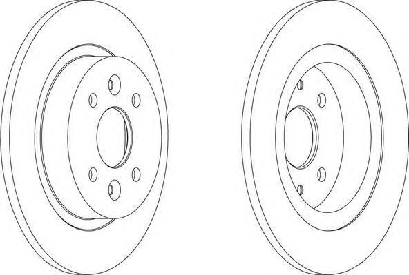 Диск тормозной задний/передний Ferodo DDF1600 комплект 2 штDDF1600