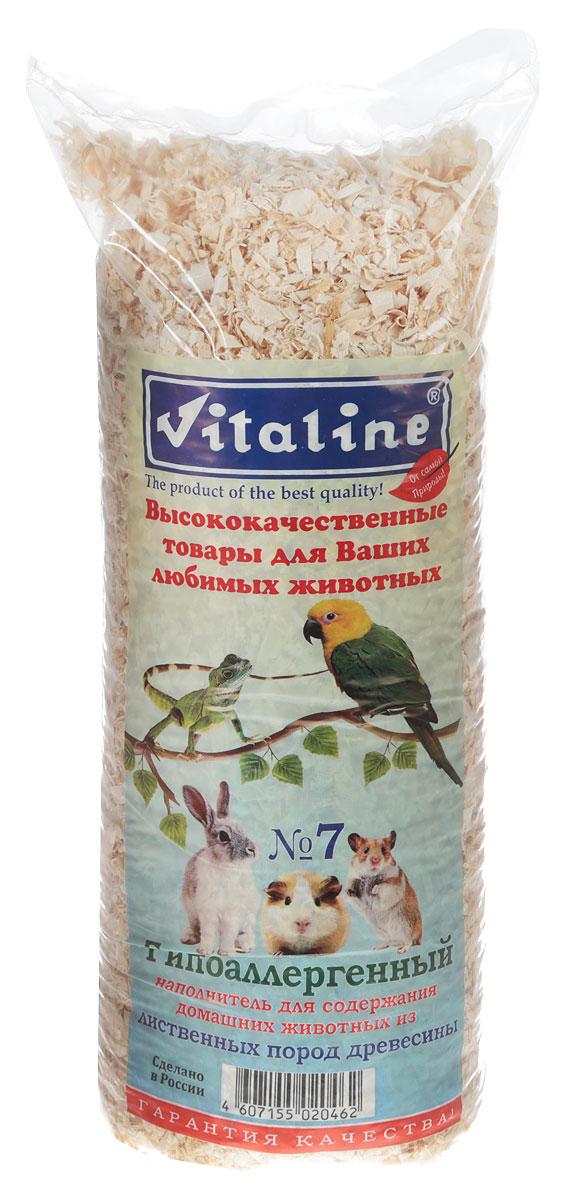 Наполнитель для грызунов Vitaline Гипоалергенный №7, древесный, 14,7 л