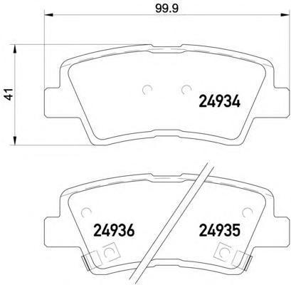 Колодки тормозные задние Textar 24934012493401