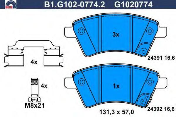 Колодки тормозные Galfer B1G10207742B1G10207742