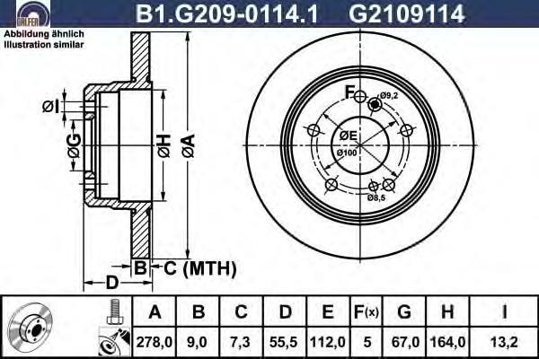 Диск тормозной Galfer B1G20901141 комплект 2 штB1G20901141