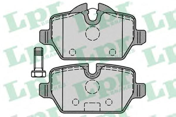 Колодки тормозные задние LPR / AP 05P124905P1249