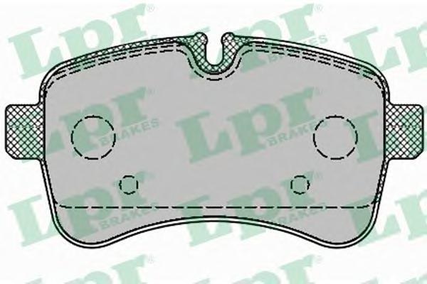 Колодки тормозные задние LPR / AP 05P129605P1296