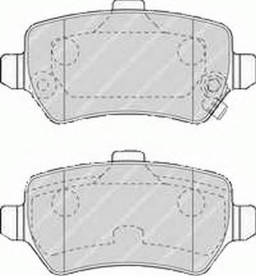 Колодки тормозные дисковые Premier Ferodo FDB1521FDB1521