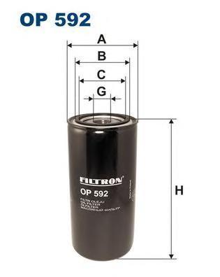 Фильтр масляный Filtron OP592OP592