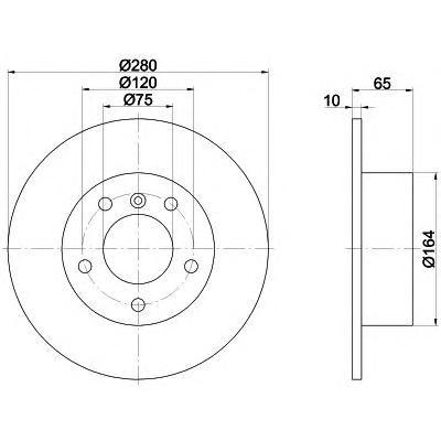 Диск тормозной задний Textar 9213290392132903