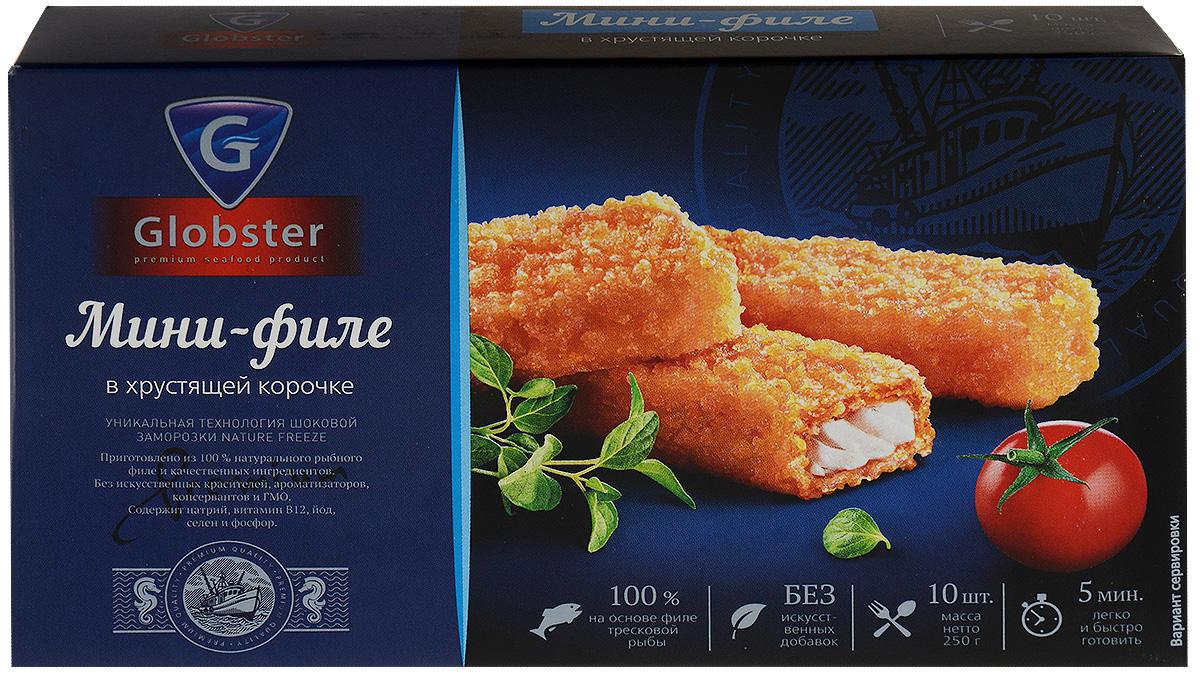 Globster Мини-филе, в хрустящей корочке, 250 г4607185410103Кулинарный полуфабрикат из рыбы мороженный в хрустящей корочке.