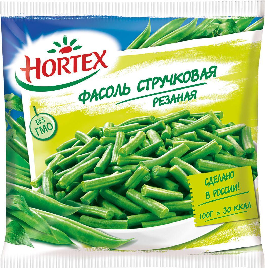 Hortex Фасоль стручковая, резаная, 400 г4607191650104Стручковая фасоль Hortex содержит достаточное количество клетчатки, пищевых волокон, которые благотворно влияют на пищеварительные процессы (калоризатор). Продукт имеет в своем составе: витамины В1, В2, В6, В9, В12, Н и РР, а также необходимые организму человека минеральные вещества: калий, кальций, магний, цинк, медь, фосфор и натрий. Регулярное употребление фасоли оказывает положительное влияние на состояние нервной системы, кожных покровов и волос.Фасоль Hortex стручковая резаная готовится в течение 10 минут, продукт не требует предварительного размораживания. Фасоль варят, тушат, жарят, запекают или готовят на пару. Идеально сочетается с яйцами, красной жирной рыбой.Калорийность фасоли Hortex стручковой резаной составляет 31 ккал на 100 грамм продукта.