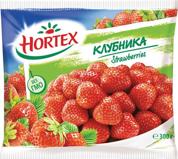 Hortex Клубника, 300 г простоквашино сырок глазированный клубника 20% 40 г