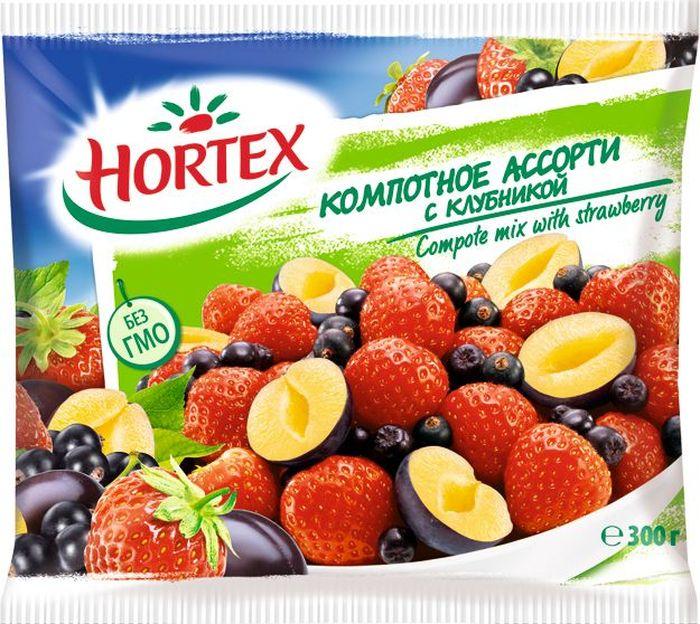 Hortex Компотное ассорти с клубникой, 300 г