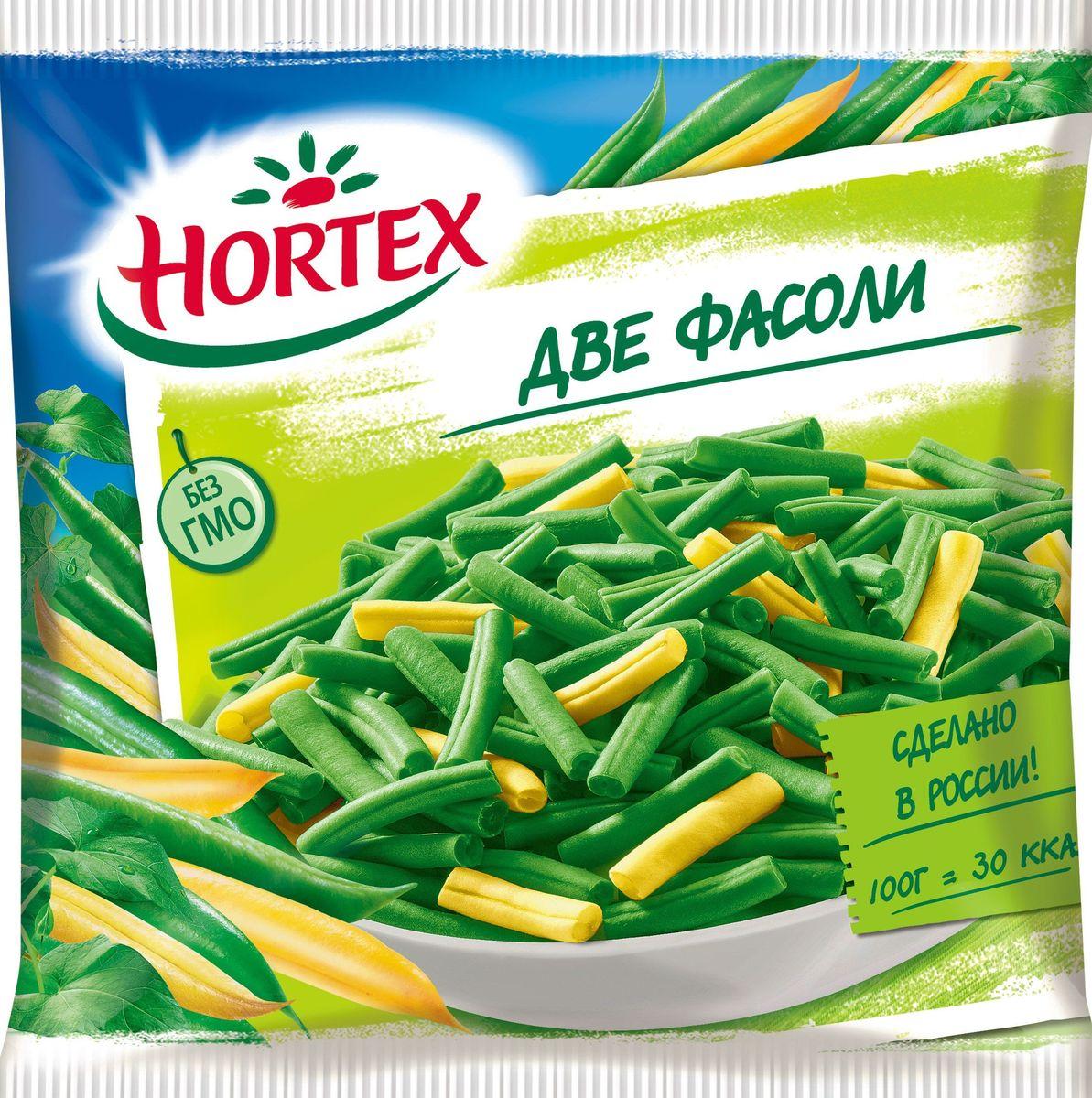Hortex Две Фасоли, 400 г4607191650579Овощная смесь глубокой заморозки, в составе которой фасоль стручковая зеленая, фасоль стручковая желтая.