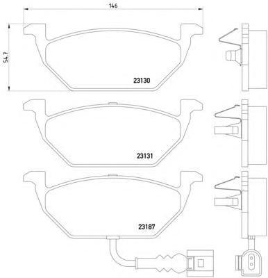 Колодки тормозные дисковые, комплект BEHR-HELLA 8DB3550085518DB355008551