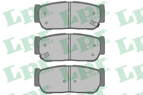 Колодки тормозные задние LPR / AP 05P150405P1504