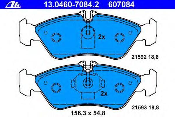 Колодки тормозные дисковые Ate 1304607084213046070842