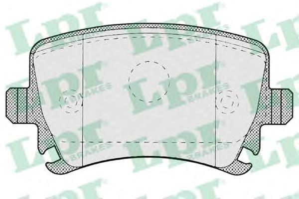 Колодки тормозные задние LPR / AP 05P121905P1219