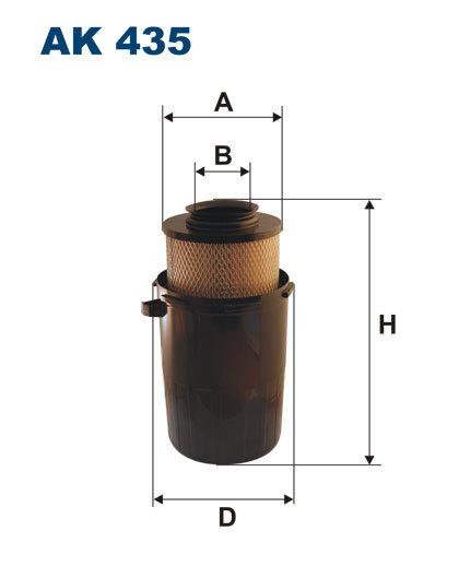 Фильтр воздушный Filtron AK435AK435