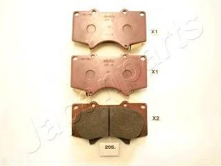 Колодки тормозные дисковые Japanparts PA205AFPA205AF