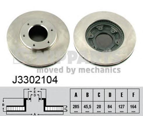 Диск тормозной передний вентилируемый Nipparts J3302104J3302104