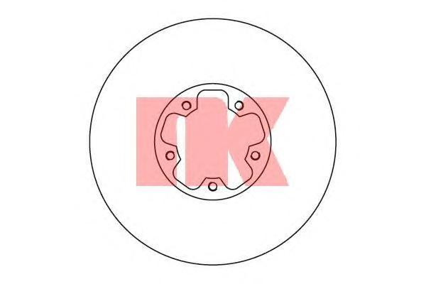 Диск тормозной NK 202554 комплект 2 шт202554