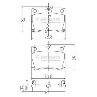 Колодки тормозные задние Nipparts J3615011J3615011