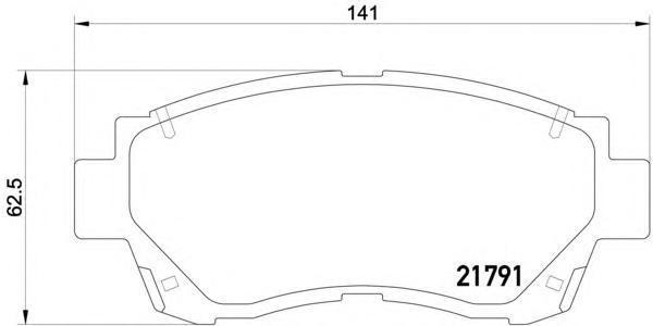 Колодки тормозные передние Textar 21791012179101