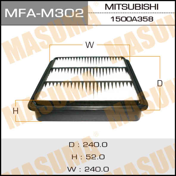 Фильтр воздушный Masuma MFAM302MFAM302
