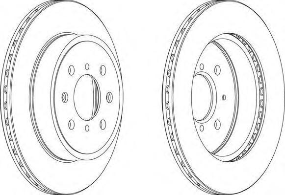 Диск тормозной передний Ferodo DDF1509 комплект 2 штDDF1509