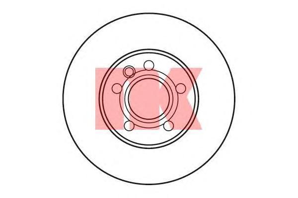 Диск тормозной NK 202545 комплект 2 шт202545