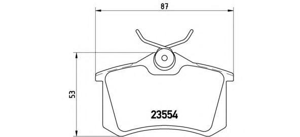 Колодки тормозные задние Brembo P85020P85020