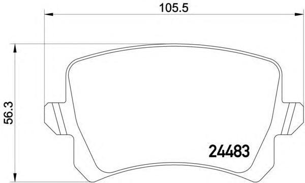 Колодки тормозные дисковые, 4 шт Textar 24483022448302