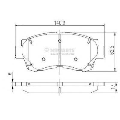 Колодки тормозные передние Nipparts J3602060J3602060