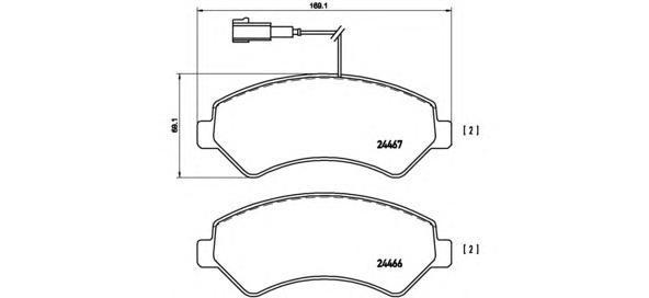 Колодки тормозные Brembo P23136P23136