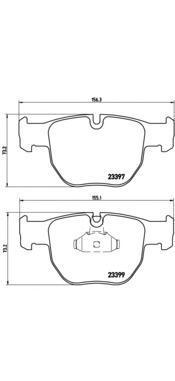 Колодки тормозные передние Brembo P44012P44012