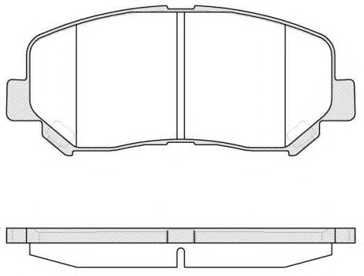 Колодки тормозные дисковые Remsa, передние. 151302151302