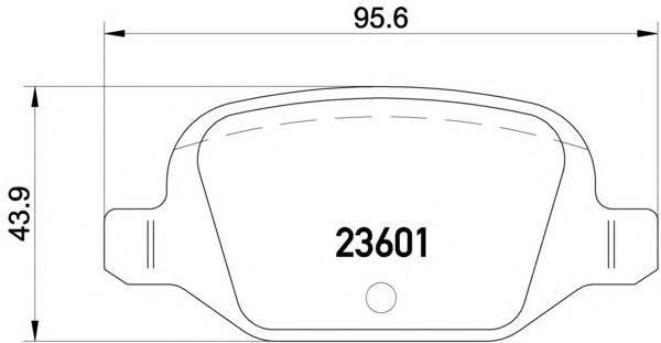 Колодки тормозные задние Textar 23601022360102