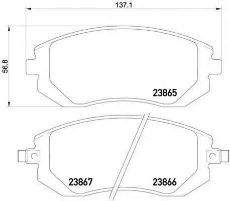 Колодки тормозные дисковые, комплект BEHR-HELLA 8DB3550102118DB355010211