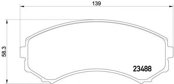 Колодки тормозные дисковые, комплект BEHR-HELLA 8DB3550094618DB355009461