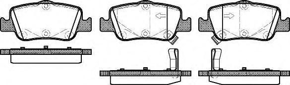 Колодки тормозные дисковые Remsa, комплект. 135602135602