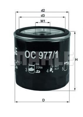Сменный масляный фильтрOC9771