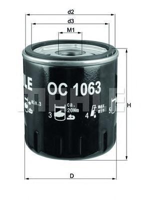 Сменный масляный фильтрOC1063
