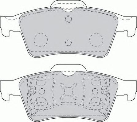 Колодки тормозные дисковые Ferodo FSL1540FSL1540