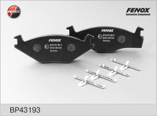 Колодки тормозные дисковые Fenox BP43193BP43193