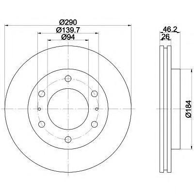 Диск тормозной Textar 92128803 комплект 2 шт92128803